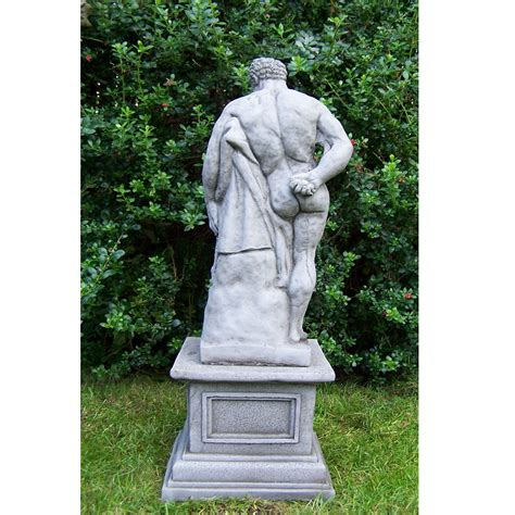 lion statue on plinth cast stone garden ornament patio large antique hercules and plinth cast stone garden