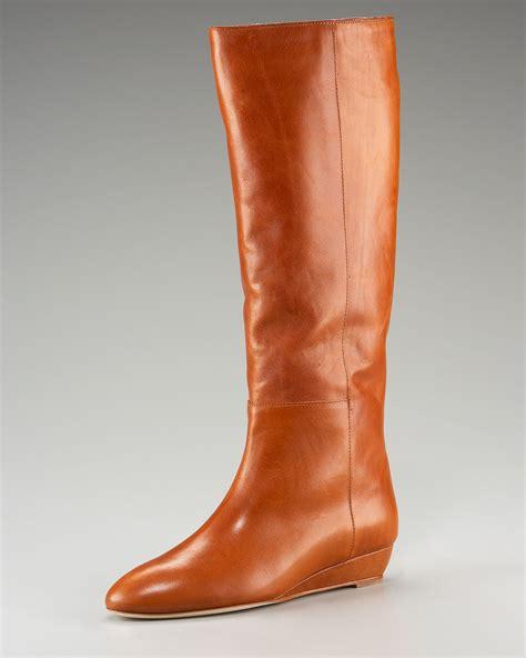 loeffler randall boots loeffler randall demiwedge knee boot in black lyst