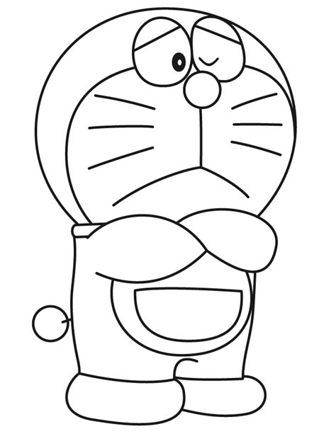 Sad Doraemon Coloring Page H M Coloring Pages Sad Coloring Page