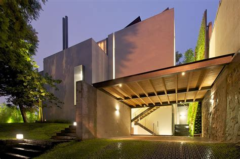facade secret room transparency a sober facade casa jacarandas freshome