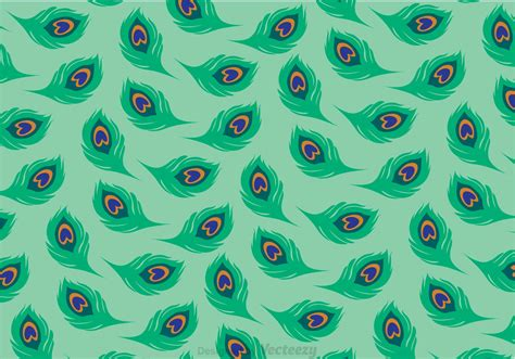 peacock pattern vector green tail peacock pattern vector download free vector