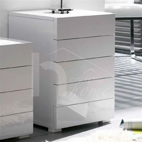 Commode Laque Blanc Brillant by Commode Basse Design Tiroirs White Coloris Blanc