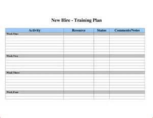 Training Planner Template 3 Training Plan Templatememo Templates Word Memo