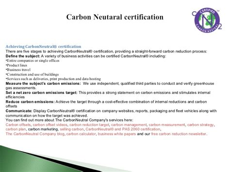 Mba In Strategic Carbon Management by Eco Labels