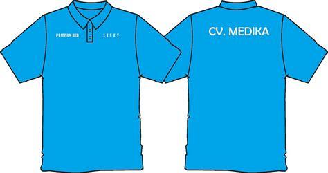 Kaos Oblong Lengan Pendek Polos Biru Icewalk sribu desain seragam kantor baju kaos desain baju dinas