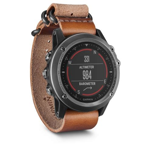 Garmin Fenix 3 Band Replacement Leather 010 12168 12 garmin fenix 3 sapphire gray with leather band