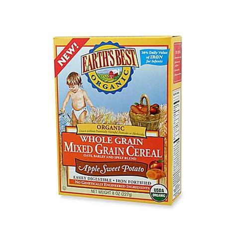whole grain unsweetened cereal earth s best 174 organic 8 oz whole grain apple sweet potato