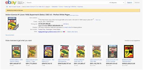 ebay lelang aneka ragam lelang komik superman di ebay ditutup dengan