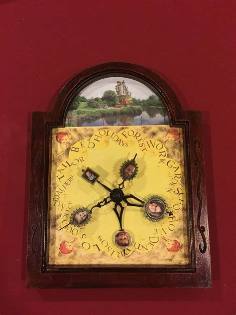 molly weasley s clock customized with your family photos etsy