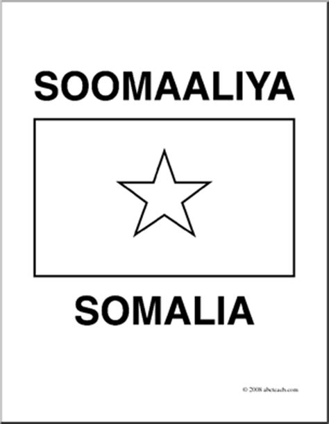 Clip Art Flags Somalia Coloring Page Abcteach Somalia Flag Coloring Page