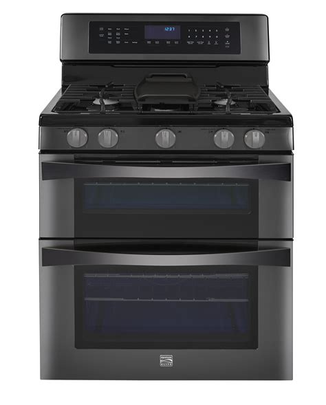 Oven Gas 1 Pintu kenmore elite 76037 6 1 cu ft oven gas range w convection cooking black stainless