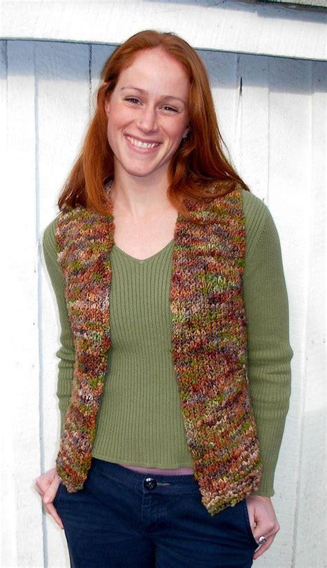 knitting pattern vest top vest knitting pattern bulky yarn easy by dancingleaffarm