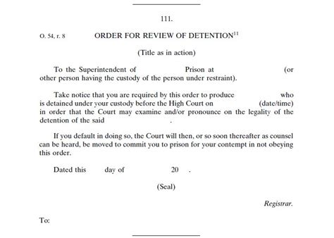 Release Letter Wiki File Order For Review Of Detention Form 111 Of