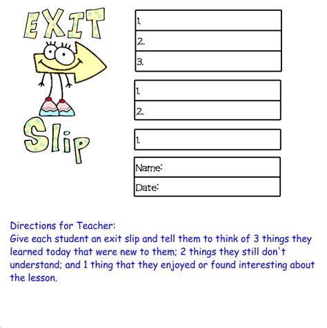 classroom exit ticket template teched out new free product