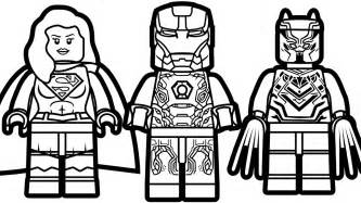 lego iron man lego supergirl lego black panther coloring book coloring pages kids fun art