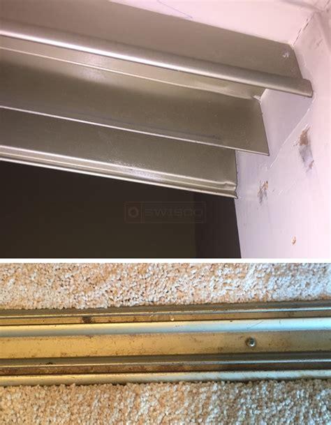 Closet Door Rail by Closet Door Track From Mirrored Doors Swisco