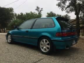 honda civic hatchback 1991 green for sale
