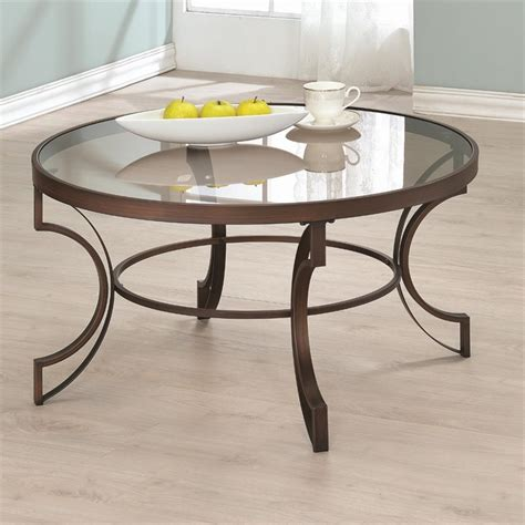 coaster fairhaven glass top coffee table in bronze