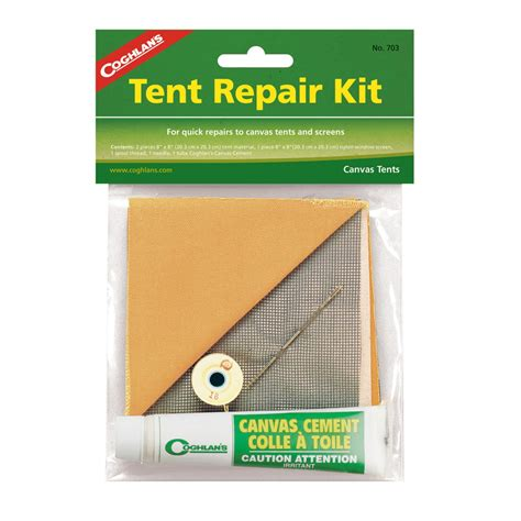 Tent And Awning Repair by Coghlans Canvas Tent Repair Kit Www Touring Gear