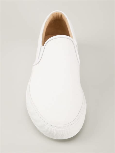 common projects slip on sneakers in white for lyst