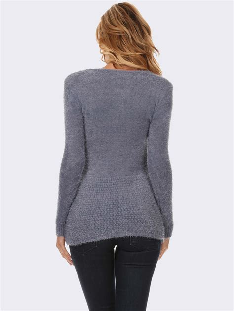 gray knit sweater gray textured knit sweater modishonline