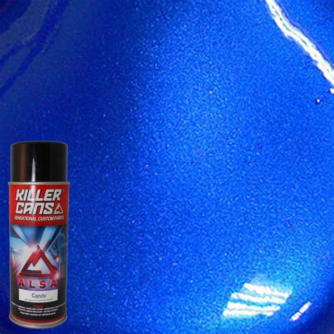 alsa refinish 12 oz cobalt blue killer cans spray paint kc cb the home depot