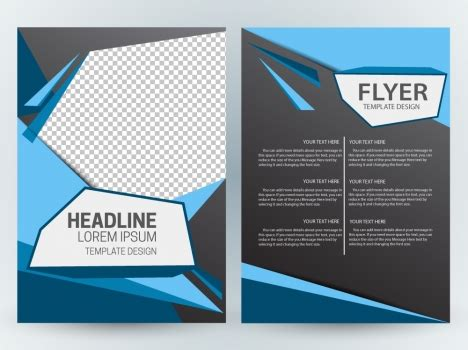 template layout majalah cdr flyer template design with modern abstract checkered dark