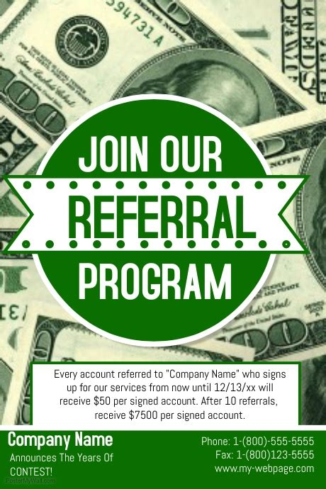 copy of referral flyer postermywall