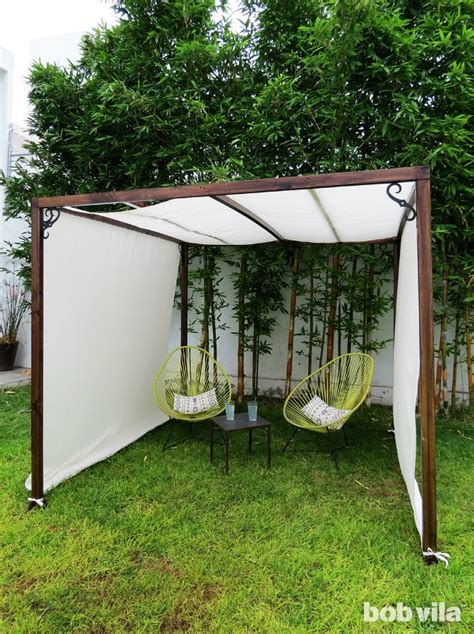 Diy Backyard Screen by Diy Outdoor Privacy Screen And Shade Tutorial Bob Vila