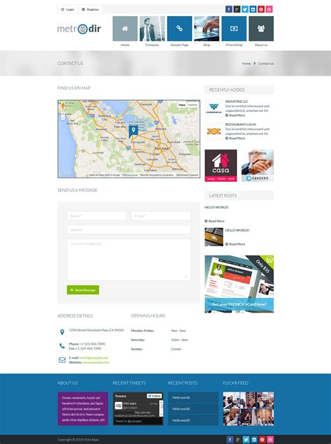 themeforest listing metrodir directory listings html template by uouapps