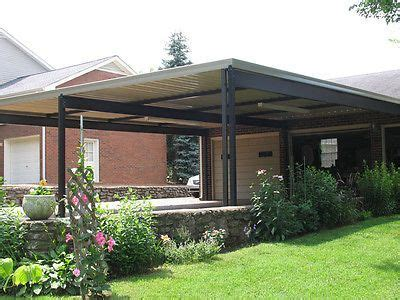 Attached Carport Kits by 20 X 20 Wall Attached Aluminum Carport Kit 019 Patio