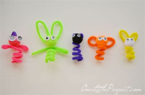 pipe cleaner crafts pipe cleaner finger puppets