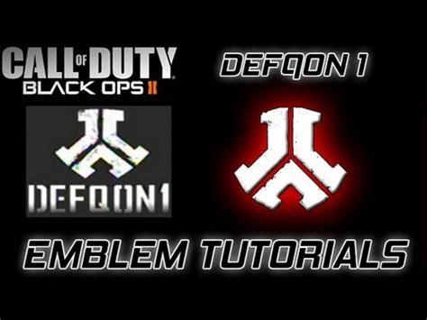 tutorial logo emblem bo2 emblem tutorial 18 defqon1 logo youtube