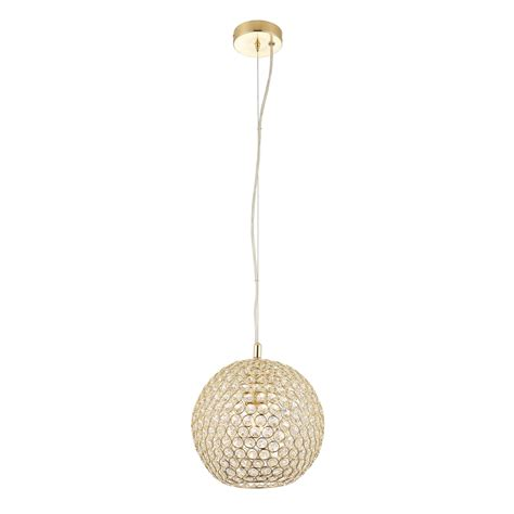 Single Pendant Ceiling Lights Endon Lighting Single Light Ceiling Pendant In Brass Finish And Clear Glass