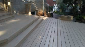 southern home cleaning and staining a deck with cabot solid stain desert sand work done by