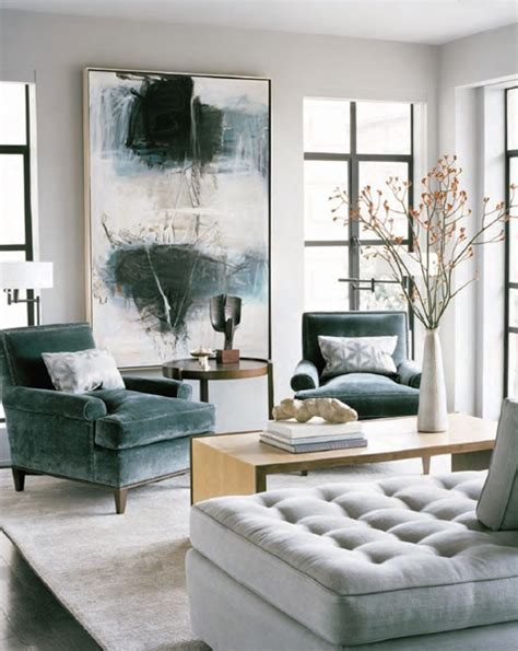 living room in shades of white and a spot of teal mojan sami