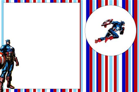 Captain America Birthday Card Template by Captain America Free Printable Invitations Oh My