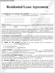 lease template rental lease agreement templates free real estate forms