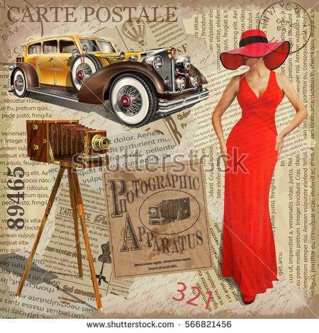 retro photos vintage poster vintage camera pretty women stock vector