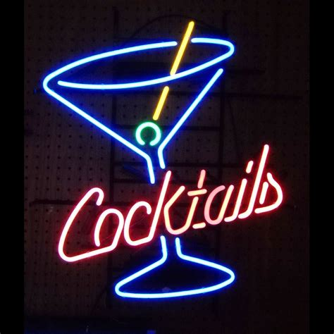Neon Bar Lights by Cocktails Martini Glass Neon Sign Neon4less