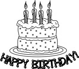 birthday cake coloring page birthday cake coloring pages