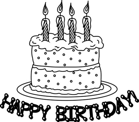 Birthday Cake Coloring Pages Birthday Cake Color Page