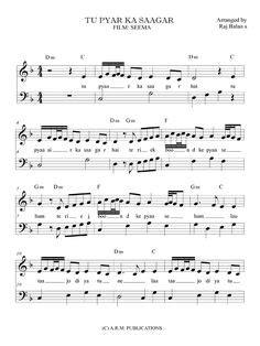 YE KALI KALI AANKHEN FROM BAAZIGAR PIANO NOTES FROM