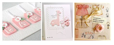 Handmade New Baby Cards - 14 beautiful handmade new baby cards decorque cards