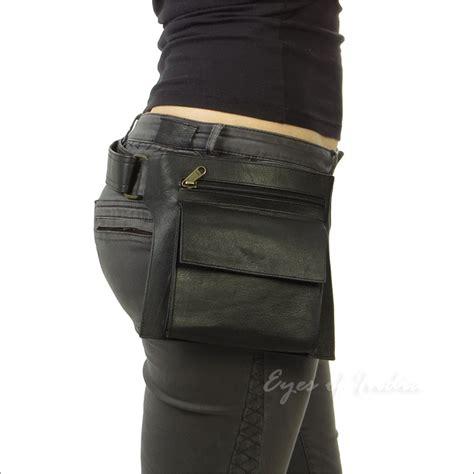 Tas Pinggang Waist Bag Waist Pack Hip Bag Journey Moskow Olive Black Leather Belt Bum Waist Hip Bag Pouch Pack