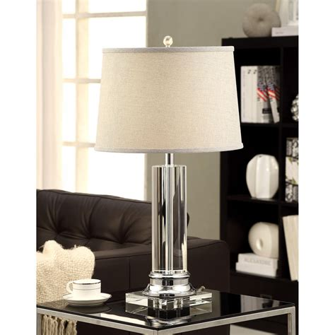grey l shades amazon crystal column table l with grey shade ebay