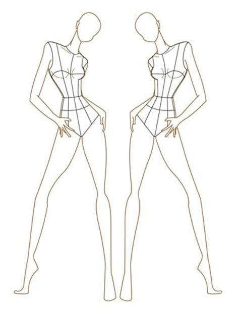 fashion pattern cutting line shape and volume fashion model sketch base www pixshark com images