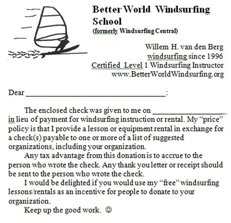 Motivation Letter International Organization Cost Better World Windsurfing School