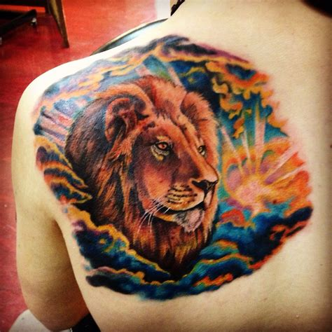 mufasa tattoo my realistic mufasa from the king