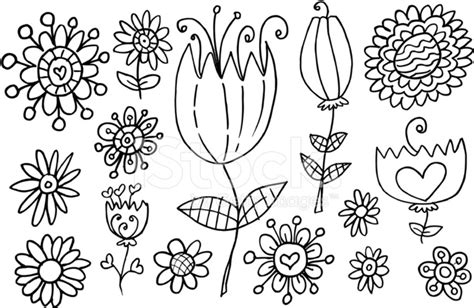 doodlebug images doodle flower springtime vector set stock vector